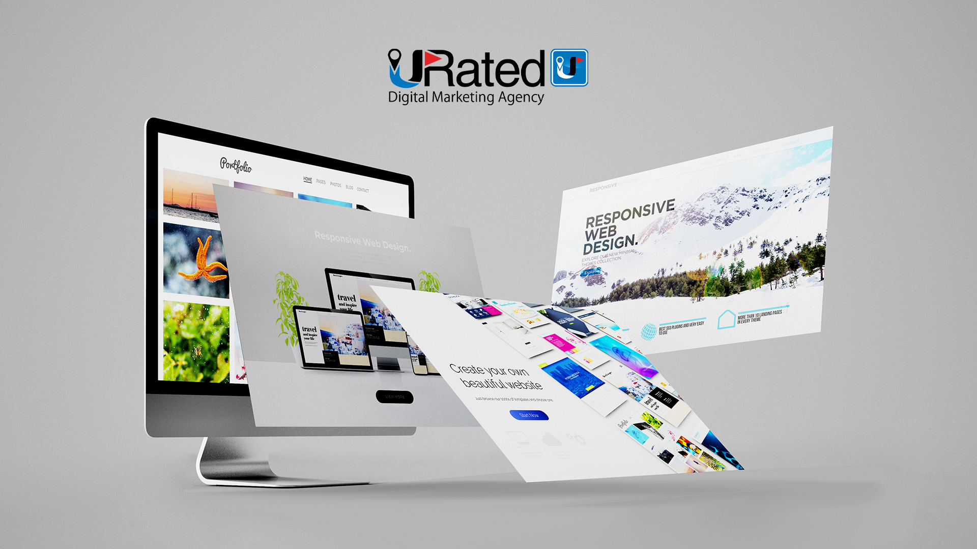 A CHOICE OF TRENDY OR CUSTOMIZED WEB DESIGN